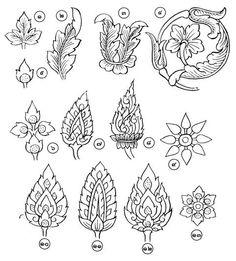 Calligraphy thai asian