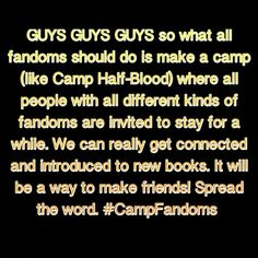 Yes!!!! #CampFandoms