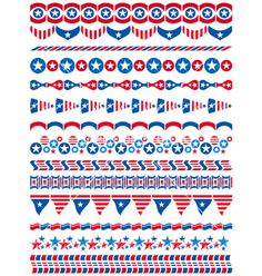 Usa decorative borders ornamental rules dividers vector  by sunnyfrog on VectorStock®