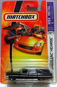 """Matchbox 1963 Cadillac Hearse MBX Metal 1:64 DE ÉSTA TUVE PUÑOS,Y EN BLACO,ASÍ COMO LA GRIS DE """"PREMIERE""""---"""