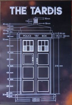 doctor who - tardis blueprint-licensed poster-90cm x 60cm-brand new from $8.58