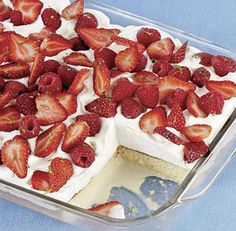 Berry-Topped Tres Leches Cake recipe Leaving out the tequila but super excited to make this for Cinco De Mayo tomorrow!!!