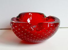 Murano Sommerso Italian glass Ashtray cigar by vintage2remember