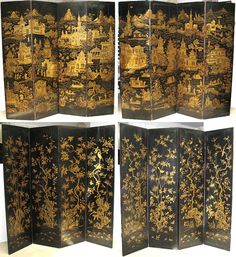 Rare anitque pair of Chinoiserie Screen sets valued at about $60,000.00
