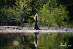 Ethereal photo shoot, prom dress photo, long hair photo, senior portrait, senior pictures, Wisconsin photographer, WI models, long hair models, max lee photography, outdoor photo shoot, reflection photo, water reflection picture, elegant dress photo shoot, mermaid dress, river side photo shoot, river reflection, eau claire river chippewa river photo, nature senior portraits, prom dress portraits, long hair mermaid model, full body photo, what to wear senior picture, black prom dress, ball…