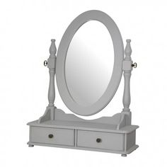 Gilles Oval Dresser Mirror One Allium Way Over The Door Mirror, Mirror With Shelf, Window Mirror, Round Wall Mirror, Dresser With Mirror, Round Mirrors, Dressing Table Hanging, Dressing Mirror, Overmantle Mirror