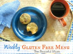 Budget Gluten Free Weekly Menu from The Peaceful Mom  #glutenfree