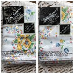 Vintage Pillowcases  Two New in Package Sets  by MyVintagePoint