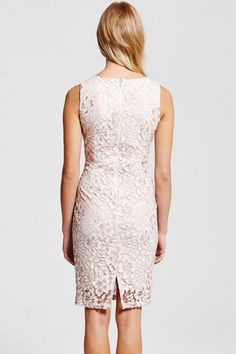 Outlet Paper Dolls Cream Lace Wiggle Dress