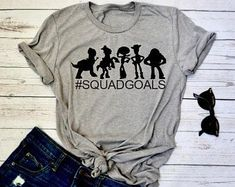 Who wouldn't want to be a part of this squad? For the toy story fans in us all! This t-shirt is everything you've dreamed of and more. Squad Goals Shirts, Toy Story Shirt, Disney Tees, Diy Disneyland Shirts, Boy Disney Shirts, Disney Day, Disney Family, Disney Magic, Disney Movies