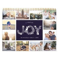 A Year of Joy | 2018 Photo Calendar - click to get yours right now! #Calendars #photocalendar #calendar2018