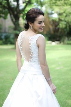 sheer back with beaded lace appliqué wedding gown Beaded Lace, Lace Applique, Wedding Designs, Wedding Gowns, Bride, Fashion, Homecoming Dresses Straps, Wedding Bride, Moda