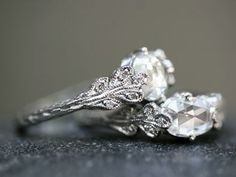antique style wedding rings