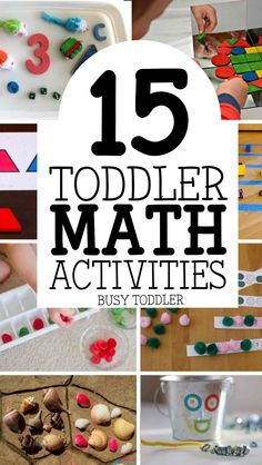 15 Toddler Math Activities: Awesome and easy toddler math activities; number recognition, patterns, sorting, and more!