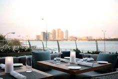 Whether brunching with a mimosa in hand or enjoying the glittering city lights at night, summer dining waterside with a perfect New York City skyline as the backdrop is a summer-must.