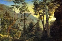 Charles De Wolf Brownell The Pinkham Notch, White Mountains, painting Authorized official website