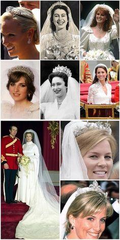 British Royal Family: Wedding Tiaras