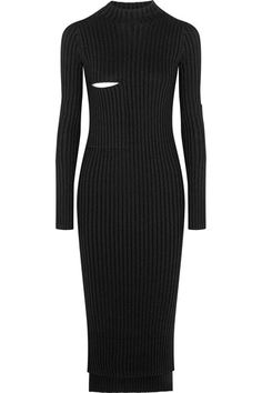 Black and white ribbed-knit Slips on 60% viscose, 37% wool, 2% nylon, 1% elastane Dry clean