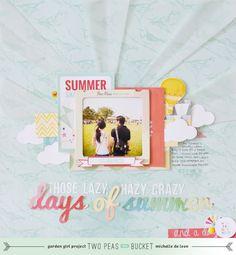 #papercraft #scrapbook #layout    Summer Theme: Days of Summer by @Michelle Flynn Flynn