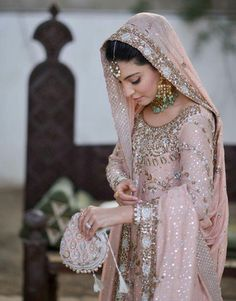 Pakistani bridal ensemble by Bunto Kazmi.                                                                                                                                                                                 More