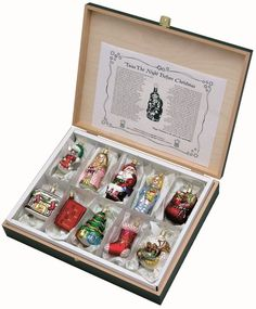 Absolutely adore this! Inge Glas Twas The Night Before Christmas German Glass Ornament Set 109509 New