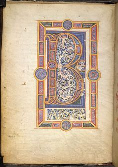 Image from the Glossary for the British Library Catalogue of Illuminated Manuscripts. Incipient Page.