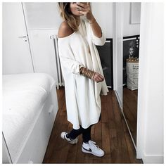 Dress Modetrotter, Jeans Anine Bing & Nike Blazer - Audrey Lombard