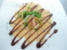Salmon Carpaccio with Raspberry Vinagrette
