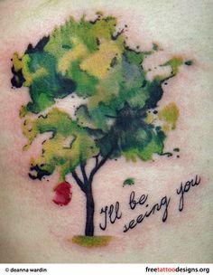 small apple tree tattoo - Google Search