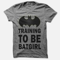 Training to be batgirl in Gray Women Tshirt Size by Mybeautyplus, $24.95