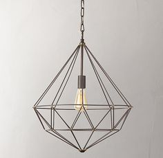 Add some bling to your ceiling with this geometric pendant light.