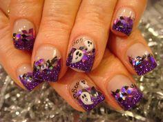 Purple And Black Nail Designs   HALLOWEEN NAIL ACRYLIC ART CLASS!   Nails Acrylic