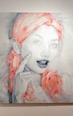 Liu Hong - not sure if this is digital art, painting or pencil & watercolor. I like it - KO