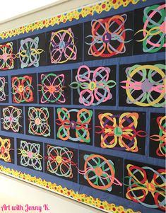 Try something different for your St. Patrick's Day art craft this year with this creative celtic knot paper activity for kids!: Try something different for your St. Patrick's Day art craft this year with this creative celtic knot paper activity for kids! Saint Patricks Day Art, Classe D'art, 6th Grade Art, Ecole Art, Math Art, School Art Projects, Spring Art Projects, Middle School Art, High School