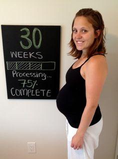 30 weeks pregnancy chalkboard