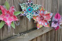 3D snowflake ornaments