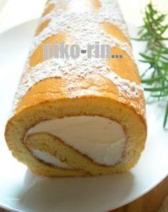 「カステラロールケーキ」piko | お菓子・パンのレシピや作り方【corecle*コレクル】