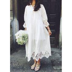 One size white cotton maxi dress with lace decor #achers#white#cotton#lace#summer#maxi#midi#onesize#dress#whitedress#cottondress#lacedress#summerdress#mididress#onesizedress#maxidress