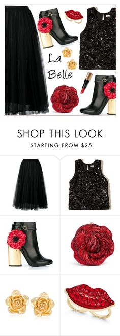 """""""La Belle"""" by razone ❤ liked on Polyvore featuring Valentino, Hollister Co., Laurence Dacade, Judith Leiber, Ross-Simons, Thalia Sodi and Bobbi Brown Cosmetics"""