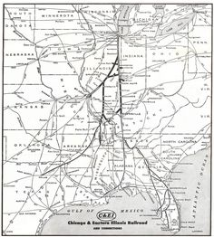 The Chicago and Eastern Illinois Railroad was a regional line that served much of Illinois, including Chicago, as well as western Indiana.  Today its lines are owned by UP and CSX.