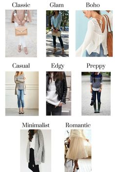 How To Find Your Personal Style - Classy Yet Trendy - Types of Fashion Styles I like having multiple styles in my closet. What I wear depends on my mood and if my outfit is for work, play, Home or going o. Look Fashion, New Fashion, Trendy Fashion, Womens Fashion, Fashion Design, Fashion Trends, Fashion Style Quiz, Romantic Fashion, Classy Fashion