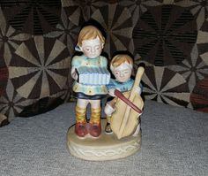 Hand Painted Occupied Japan Porcelain Figurine of Children Playing Musical Instruments (1945-1952) Collectible Vintage Piece, Post WWII Item by VintageZoneByJoao on Etsy