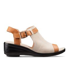 Look what I found on #zulily! Beige Dakota Leather Sandal #zulilyfinds