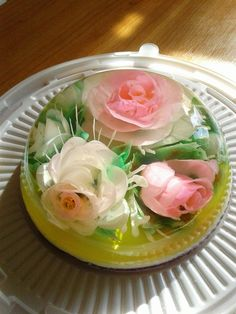 3d Jelly Cake, Jelly Flower, Jello Desserts, Beautiful Desserts, Creative Cakes, Custard, Cake Art, Cake Designs, Good Food