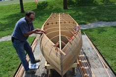 A cedar boat building demo is in-progress at the King Museum the first three Saturdays of July. Bring the whole family.