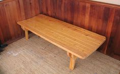"""A patio """"napping"""" bench from Woodgears - because who couldn't use a nap?  If used outside it would need to be sealed or painted."""