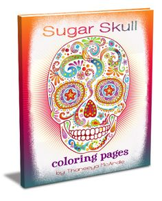 This is the coolest sugar skull coloring pages book!