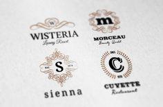 Simple Retro Logo Templates v.1 by Peter Olexa, via Behance