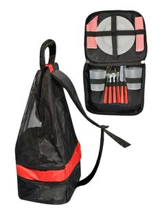 Rucksack mit Geschirr und Besteck - ideal für ein #Picknick oder als #Festival Begleiter!