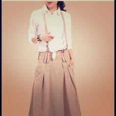 "HOST PICK12/21/14 Linen Halter Dress/Shanghai Linen. Two side pockets. Buttons on one hip. Adjustable halter strap. 29"" waist, 35"" from waist to hem. Never worn (shirt not included) custom made Dresses"